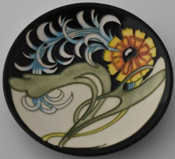 Moorcroft Pottery Lily Plume Dish Designed By Emma Bossons